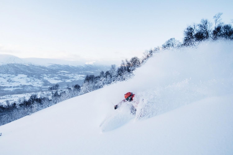 Freeride skiing in Oppdal