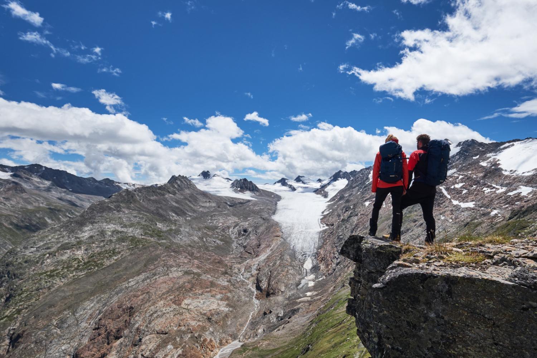 Aussicht auf die Gletscher der Ötztaler Alpen ©Anton Brey Ötztal Tourismus