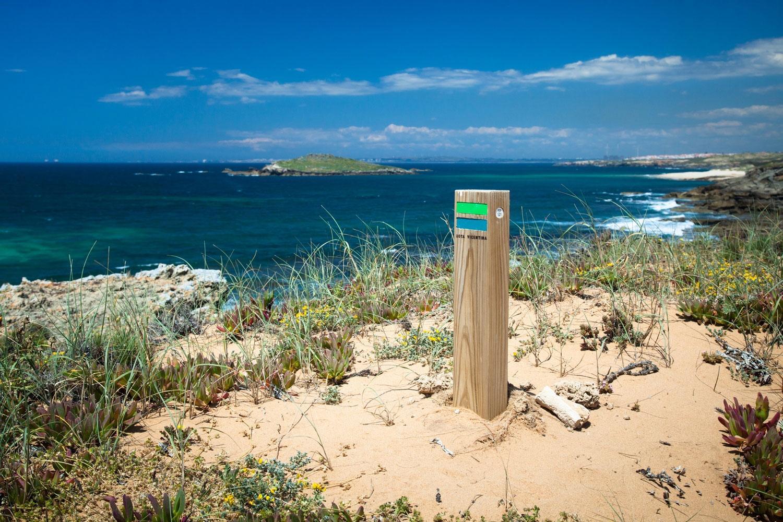 Wilde Algarve: Historischer Weg In Portugal - Küste Algarve mit Wildblumen