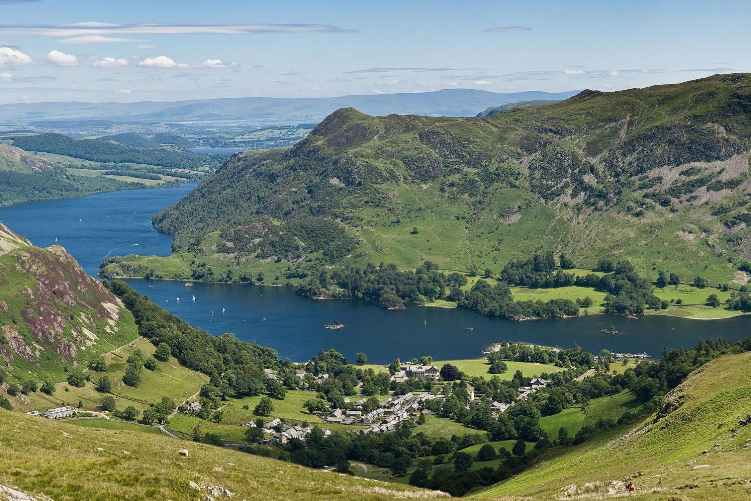 Ullswater and Patterdale in the Lake District. Image by Kreuzschnabel. Licence: CC-by-SA-3.0